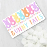 Pastel Easter Bunny Tails Printable Candy and Treat Bag Toppers