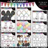 Pastel Easter Clip Art & B&W Bundle (6 Sets)