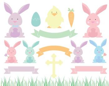 Pastel Easter Clipart, Pastel, Easter, Clipart, Set #216