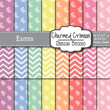Pastel Easter Digital Paper 1099
