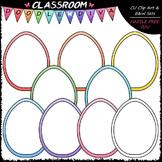 Pastel Easter Egg Whiteboards Clip Art - Easter Clip Art &