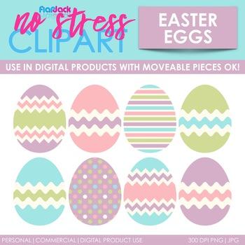 Pastel Easter Eggs Clip Art (Digital Use Ok!)