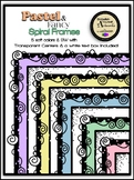 Pastel & Fancy Spiral Frames Clipart