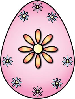 Pastel Flowers Easter Egg