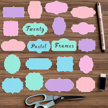 Pastel Frame Clipart {Pretty Graphics}