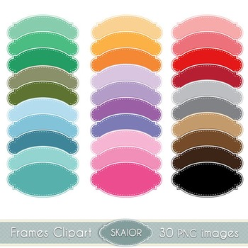 Pastel Frames Clipart Dotted Borders Rainbow Color Printable Scrapbooking