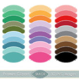 Pastel Frames Clipart Dotted Borders Rainbow Color Printab