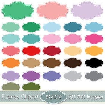 Pastel Frames Clipart Dotted Borders Rainbow Color Printable