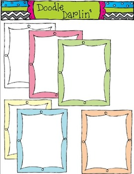 Pastel Frilly Frames WITH CENTER