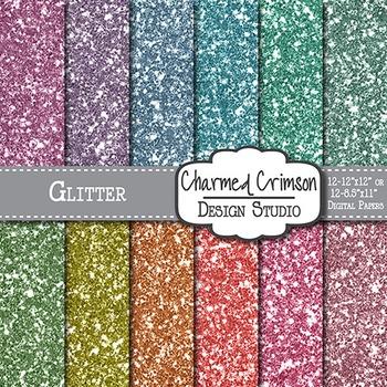 Pastel Glitter Digital Paper 1351