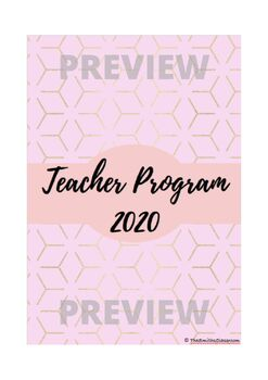 Pastel & Gold Binder Covers (Editable)