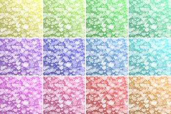 Pastel Hearts Bokeh digital paper, Pastel colors Bokeh Overlay, Heart Bokeh