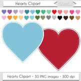 Heart Frames Clipart Pastel Hearts Clip Art Dotted Frames