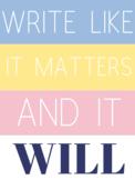 Pastel Interactive Writing Bulletin Board