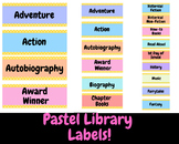 Pastel Library Labels
