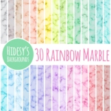 Pastel Marble Backgrounds / 30 Rainbow Digital Papers Clip Art Set Commercial