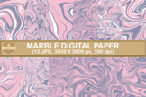 Pastel Marble Textures Digital Papers Background
