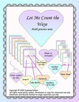Pastel Math work mats