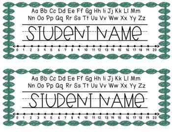 Pastel Name Tags - Editable