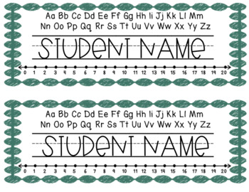 Pastel Name Tags - Editable