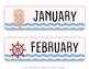 Pink and Blue Pastel Nautical Classroom Calendar Set