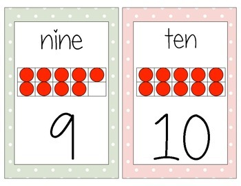 Pastel Number Cards