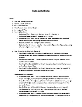 Pastel Number Design Lesson
