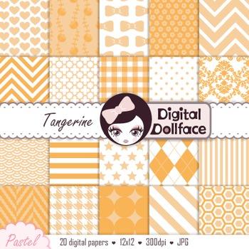 Digital Paper - Pastel Orange