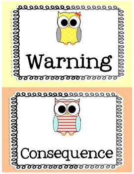 Pastel Owl Behavior Clip Chart