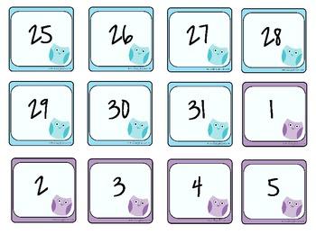 Pastel Owl Theme Calendar Set
