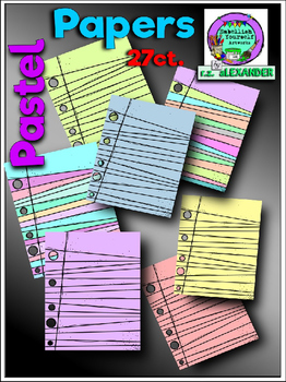 Pastel Papers Clipart