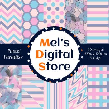 Pastel Paradise: Digital Party Papers {Mel's Digital Store} - Freebie