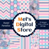 Pastel Paradise: Digital Party Papers {Mel's Digital Store