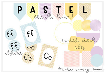 Pastel Patterned Classroom Decor-EDITABLE