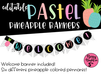 Pastel Pineapple Banners