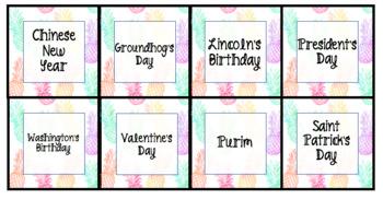 Pastel Pineapple Calendar Cards - Editable