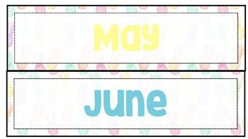 Pastel Pineapple Months
