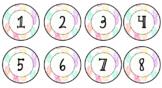 Pastel Pineapple Student Numbers - Editable