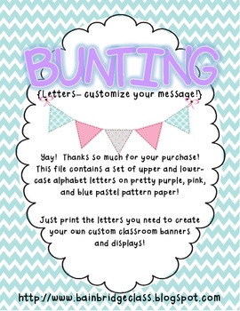 Pastel Pink, Purple, and Blue Buntings- Customize Your Own Banner!
