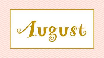 Pastel Pink and Gold Calendar Months