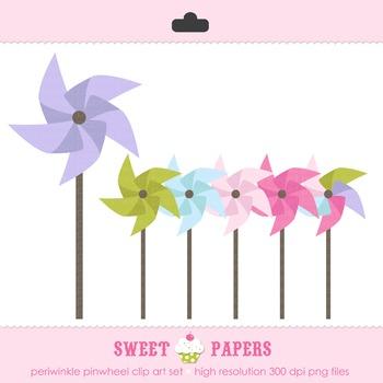 Pastel Pinwheels Digital Clip Art Set - by Sweet Papers