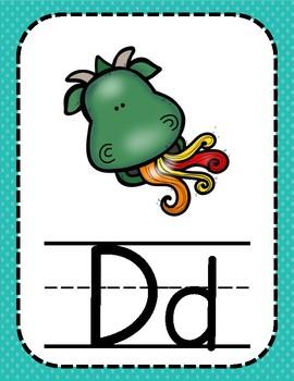 Pastel & Polka Dot Alphabet Posters