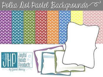 Pastel Polka Dot Backgrounds