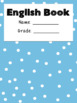 Pastel Polka Dot Book Covers