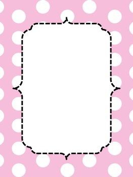 Pastel Polka Dot Border Posters