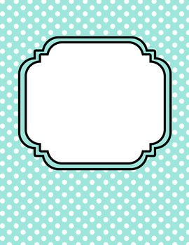 Pastel Polka Dot Digital Papers &Matching Frames for Work Books, Covers, Sellers