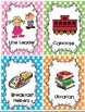 Classroom Job Cards and Word Wall Cards-Pastel