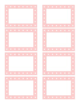 Pastel Polka Dot Labels