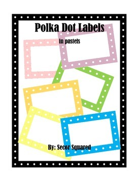 Pastel Polka Dot Labels