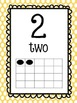 Pastel Polka Dot Number Posters 1-20